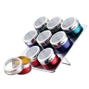 PETERHOF Mágneses fűszertartó készlet (színes)